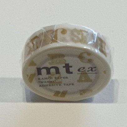 Masking Tape Alphabet Gold R