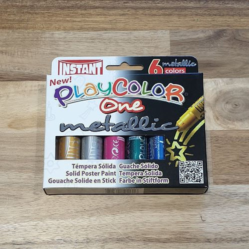 Instant Playcolor One Metallic Solid Poster Paint 6 Colours