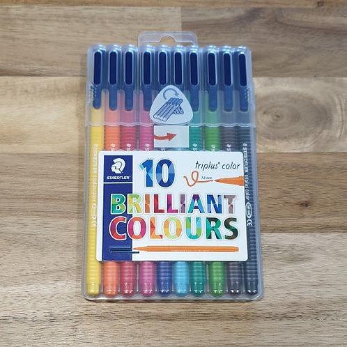 Staedtler Triplus 10 Brilliant Colours