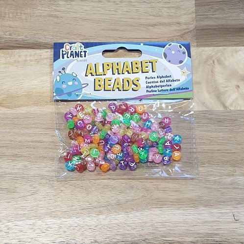 Craft Planet Alphabet Beads