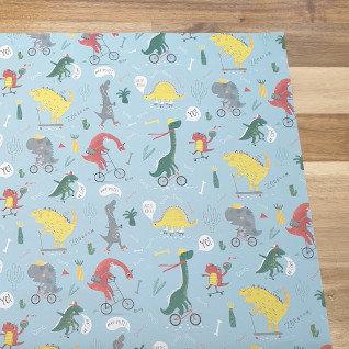 sass & belle Dinosaur Gift Wrap Paper