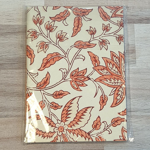 Orange Papermirchi Block Printed B6 Notebook