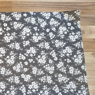 sass & belle Black Flowers Gift Wrap Paper