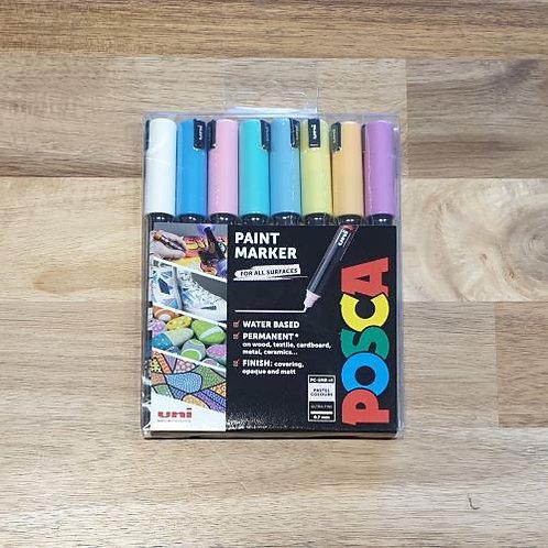 Posca Paint Marker Pastel Colours 8 Pk