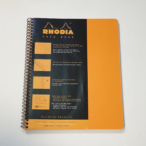Rhodia Orange Squared Notebook 22.5x29.7cm