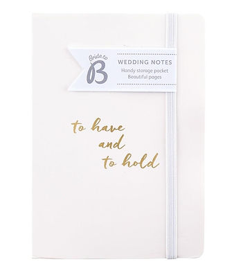 Busy B Wedding Note Journal Notebook
