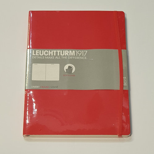 Leuchterm A4 Slim Softcover Notebook Red