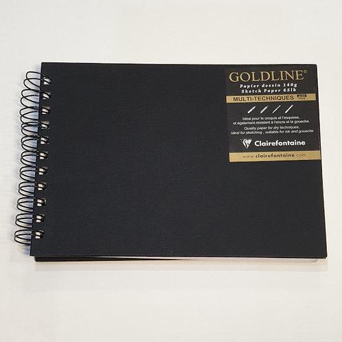 Clairefontaine Goldline Multi-Techniques Wire Bound 29,7x21cm
