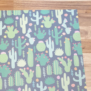 sass & belle Cactus on Black Gift Wrap Paper