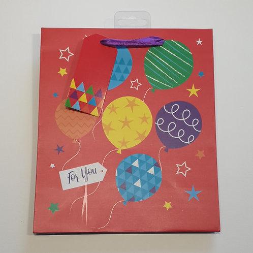 Paper World Balloons Gift Bag