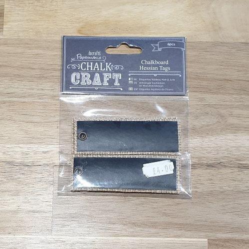 docrafts Chalkboard Hessian Tags