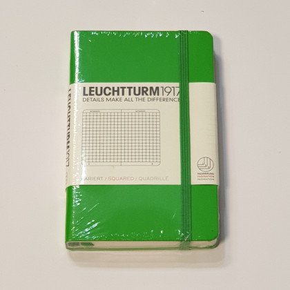 Leuchterm A6 Pocket Notebook Hardback Fresh Green