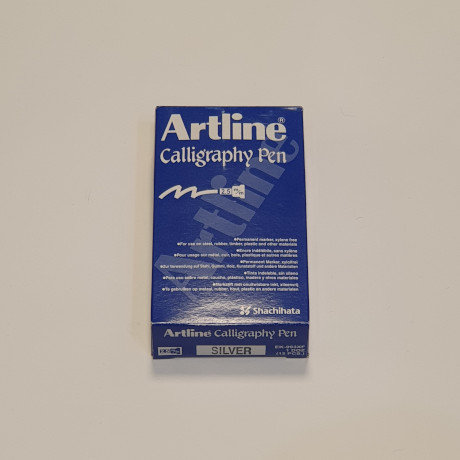 Artline Calligraphy Pen Silver