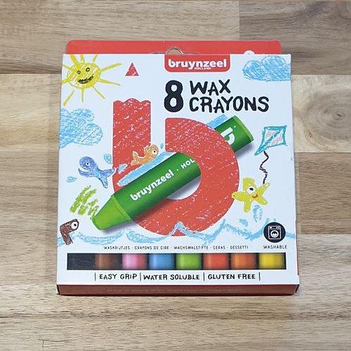 Bruynzeel 8 Wax Crayons