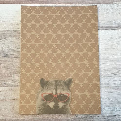 Funny Company Raccoon Clothbound A5 Notebook