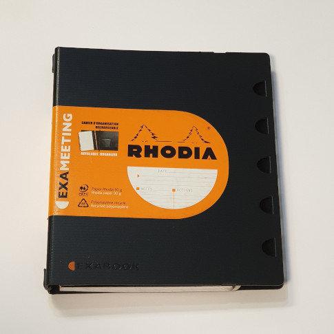 Rhodia Black Refillable Organiser