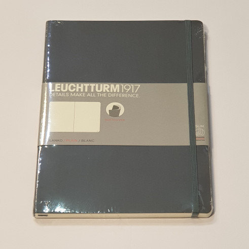Leuchterm A4 Slim Softcover Notebook Grey