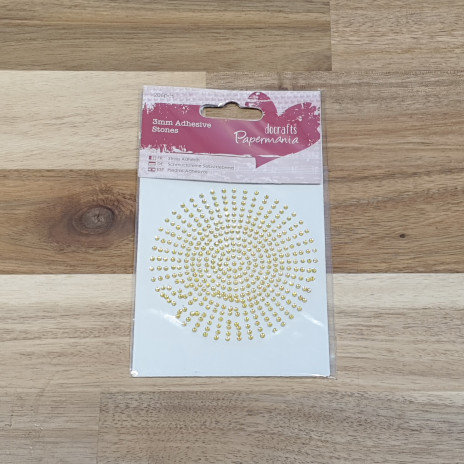 docrafts Papermania 2mm Adhesive Stones Gold