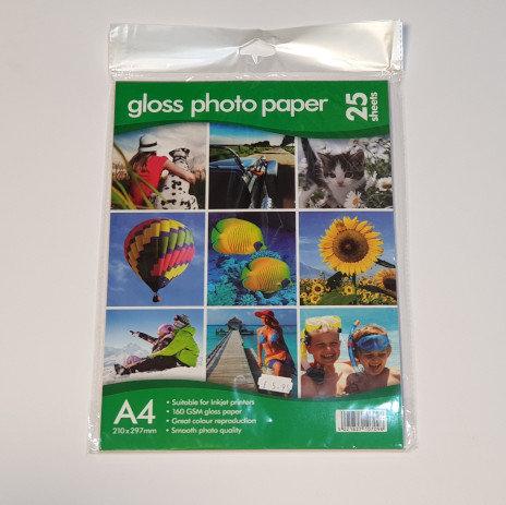 Gloss Photo Paper A4 25 Sheets