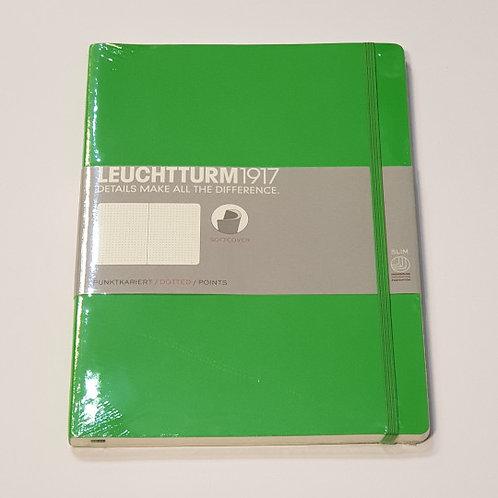 Leuchterm A4 Slim Softcover Notebook Fresh Green