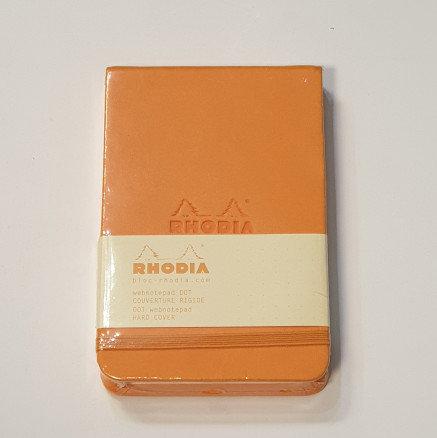 Rhodia Orange Thread Bound Notebook 9x14cm