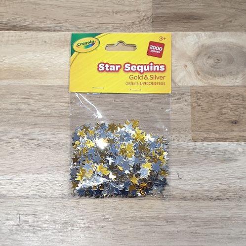 Crayola Star Sequins Gold & Silver