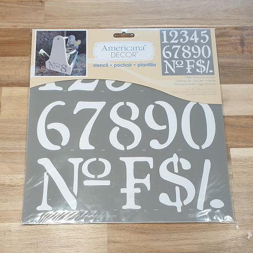 Americana Decor Number Stencil