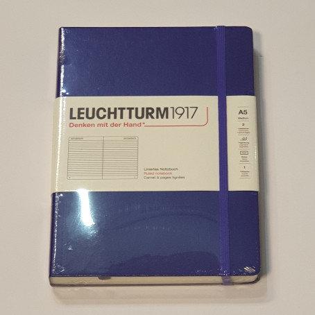 Leuchterm A5 Medium Notebook Hardback Royal Blue