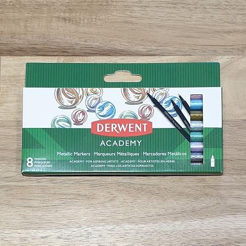 Derwent Academy Metallic Markers 8 Pk