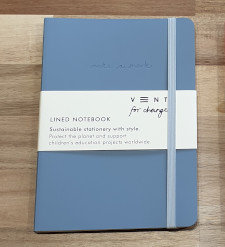 Vent for change Lined Notebook Blue