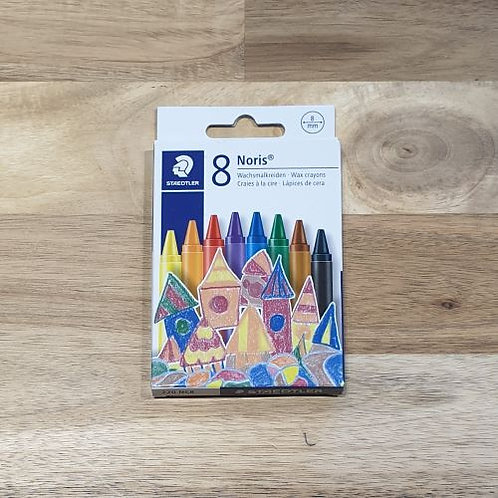 Staedtler Wax Crayons Assorted Colours 8 Pk