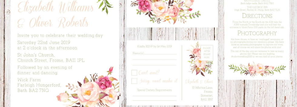 Wedding Invitation Suite Mock Up