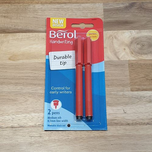 Berol Handwriting Durable Tip Pen 2 Pk
