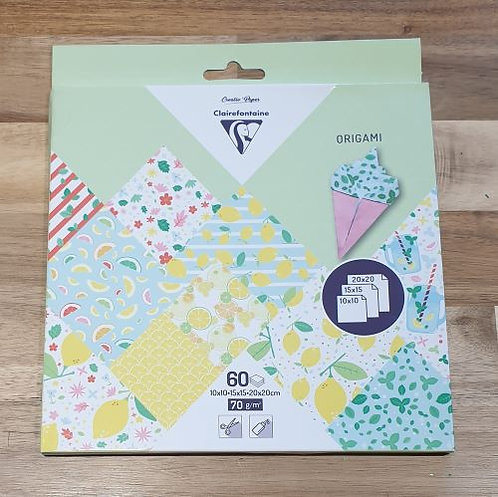 Clairefontaine Origami Paper 60 Sheets Assorted Sizes
