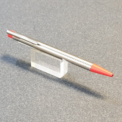 Lamy Logo Ballpoint Pen Matt Stainless Steel Red