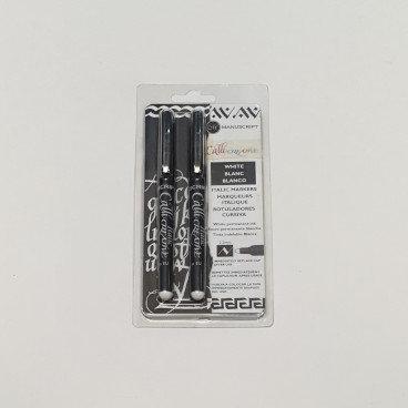 Manuscript Calli Creative White Italic Markers