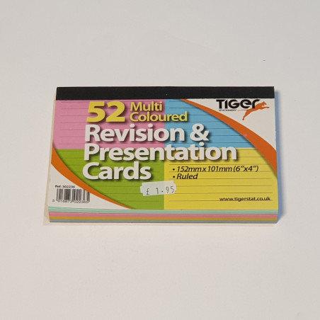 Tiger 52 Multi Coloured Revision & Presentation Cards