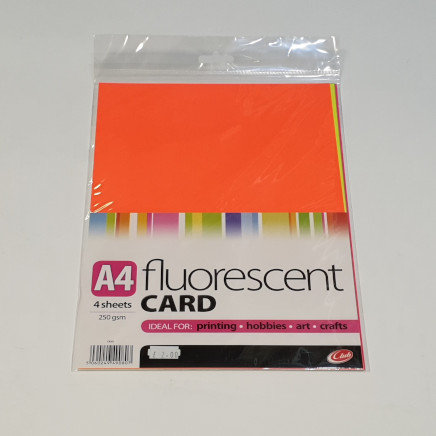Club Fluorescent Card A4 4 Sheets