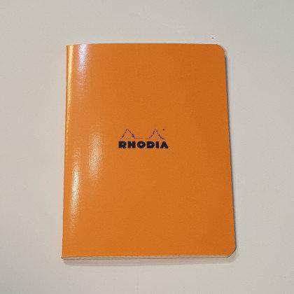 Rhodia Orange Square Notebook 14.8x21cm