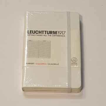 Leuchterm A6 Pocket Notebook Hardback White