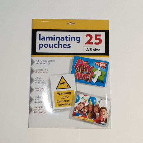 A3 Laminating Pouches 25 Sheets