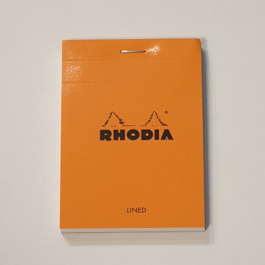 Rhodia Orange Lined Notebook 7.4x10.5cm