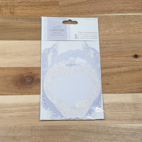 docrafts Papermania Die-Cut Notelets French Lavender