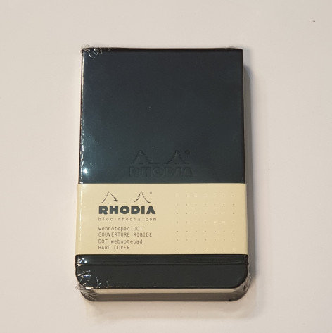 Rhodia Black Thread Bound Notebook 9x14cm