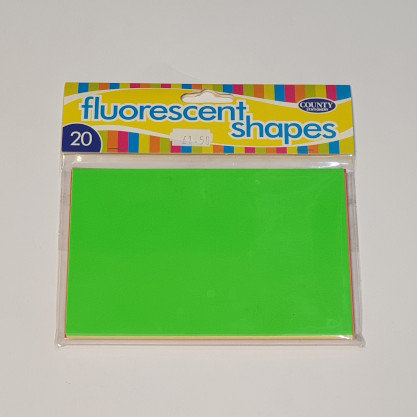 County Stationary 20 Fluorescent Shapes