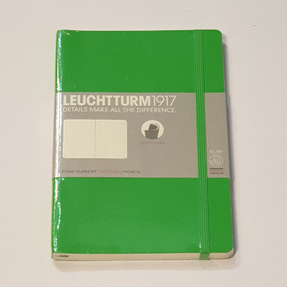 Leuchterm B5 Composition Notebook Softcover Fresh Green