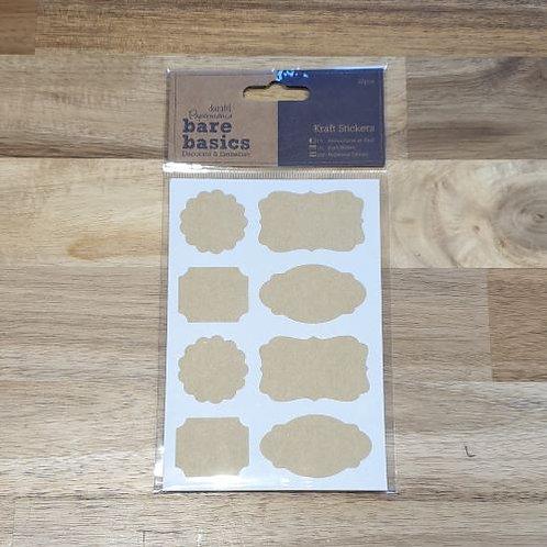 docrafts Kraft Stickers 2