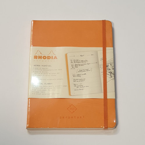 Rhodia Orange Perpetual Planner 14.8x21cm