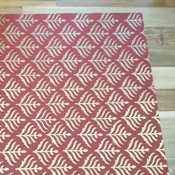 Papermirchi Block Printing on Red Wrapping Paper