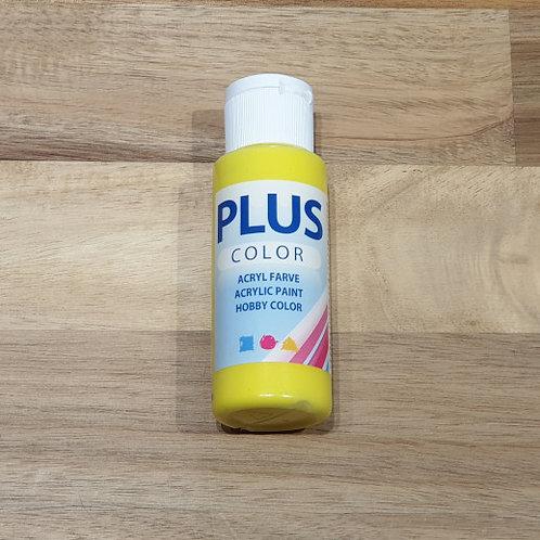 Plus Color Acrylic Paint Primary Yellow 60ml